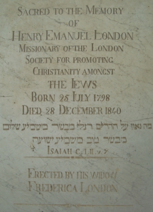 Photo of the gravestone of Henry London